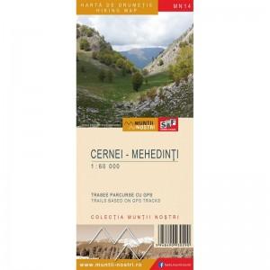 Harta Muntii Nostri:Cernei- Mehedinti